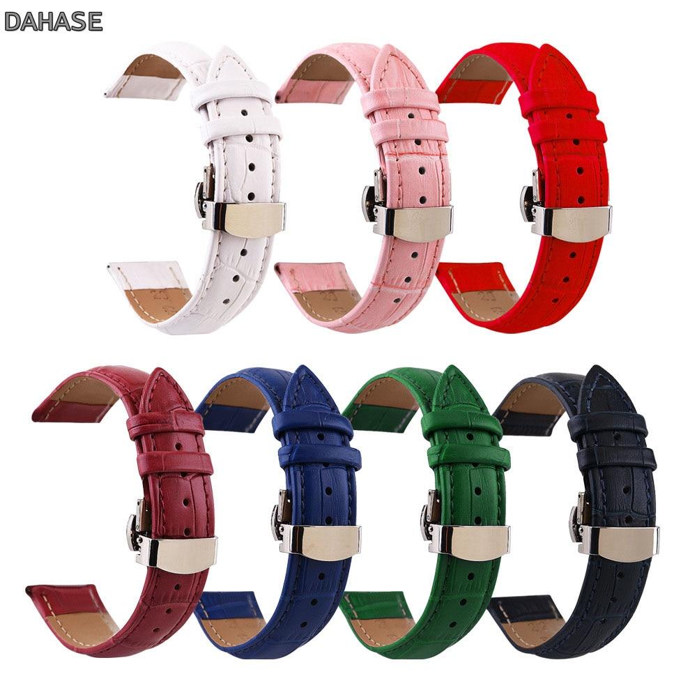Crocodile Genuine Leather Watch Band 12mm 13mm 14mm 15mm 16mm 17mm 18mm 19mm 20mm 21mm 22mm 24mm Watchband Butterfly Clasp Strap