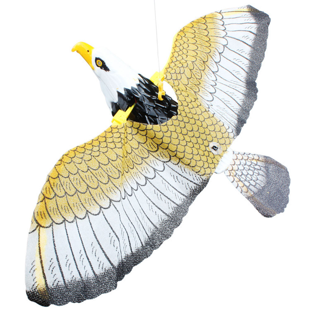 Realistic Electric Bird Eagle Simulated Novelty Ornaments Home Decor Creative Sound Wing Flying Eagle Voice Spread Wings Gift