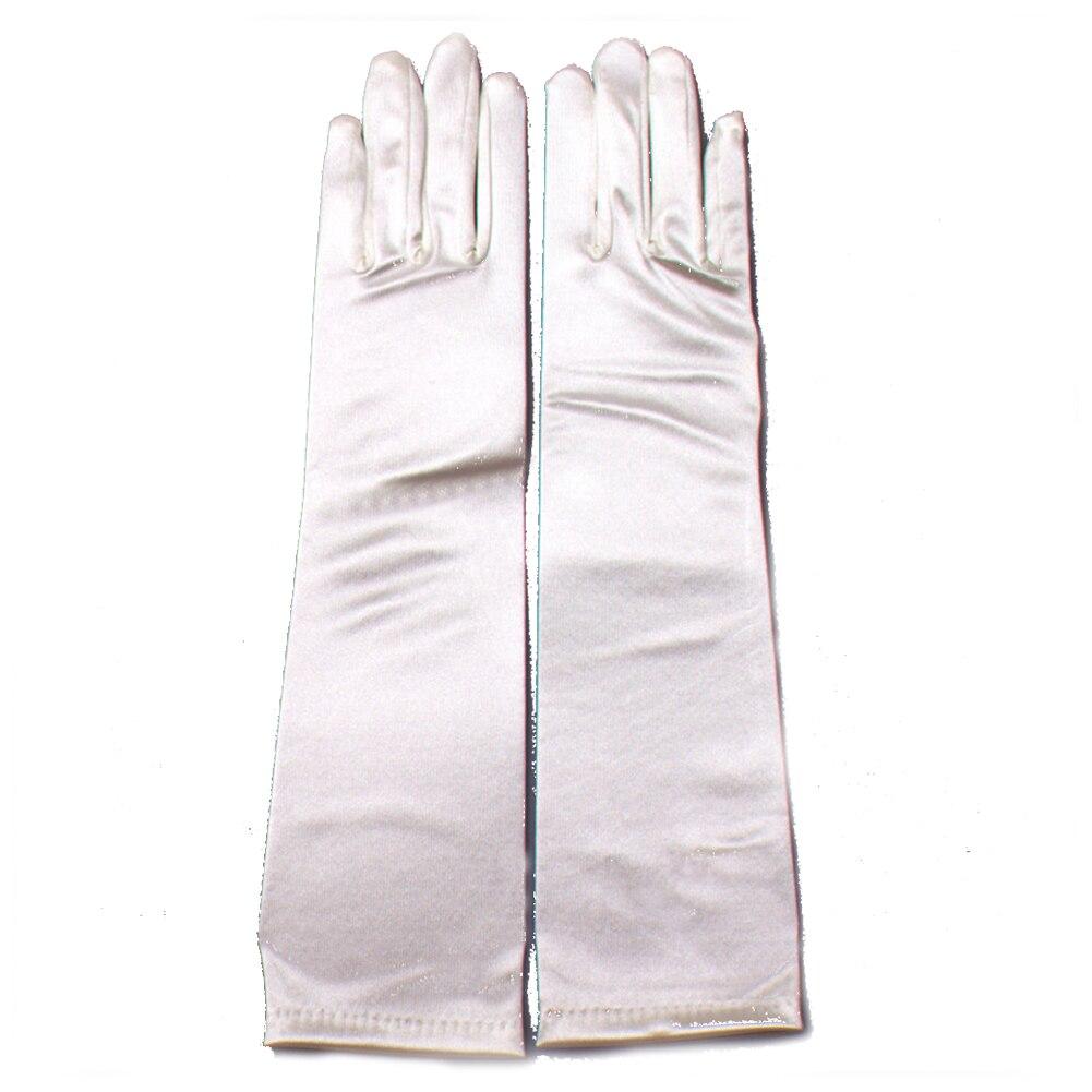 1 Paar 38 Cm Frauen Elegante Oper Satin Handschuhe Ellenbogen Länge Satin Handschuhe Bankett Hochzeit Abend Halloween Phantasie Kleid Party Kosten Moderater Preis