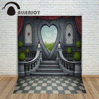 Allenjoy Backgrounds filming Cartoon rabbit poker heart professional camera photography vinyl backdrops