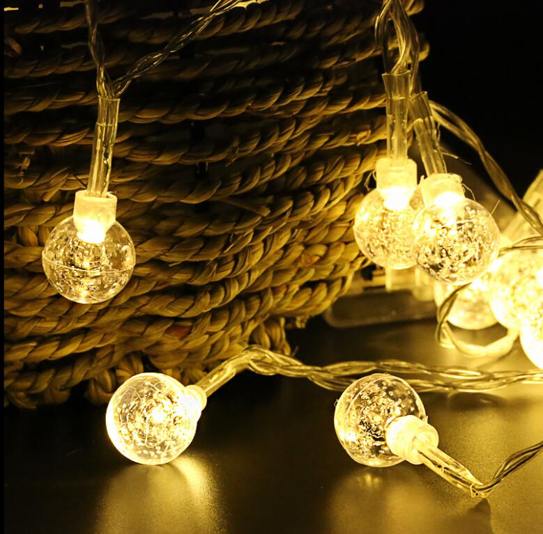 220V Crystal Ball string light 10M 50 led Christmas holiday Wedding party decoration fairy light