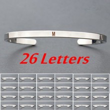 26 Letters Bracelet Dainty Stainless Steel Cuff Bracelets For Women Initial Jewelry Personalized Gifts for