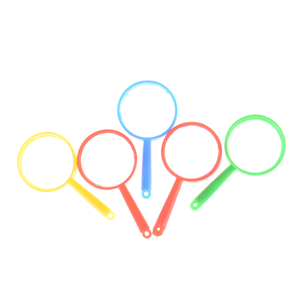 5pcs/lot Colorful Plastic Mini Magnifying Glass Children's Toys Learning Education Toys