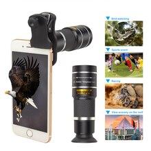 APEXEL 20X телеобъектив зум телефон объектив портативный 20x Монокуляр телескоп lentes с селфи Штатив для смартфонов iPhone samsung