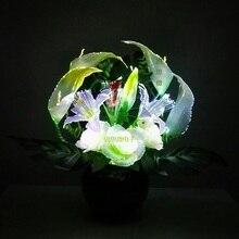 Wedding decoration led flower lights  Novelty artistic optical fiber flower used for Christmas  New Year party Shop Decoration