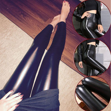 S-3XL Plus Size Leather Leggings Women High Waist Leggings Stretch Slim Black Legging Ladies Spring Autumn Thin/Thicken PU Pants все цены