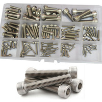 Hex Socket Head Cap Screw Thread Metric Machine Hexagon Allen Bolt Assortment Kit Set 304 Stainless Steel M2.5 M3 M4 M5 M6 M8