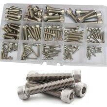 M2.5 M3 M4 M5 M6 M8 Hex Inbusbout Draad Metrische Machine Hexagon Allen Bolt Assortiment Kit Set 304 Roestvrij Staal
