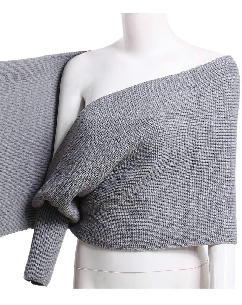 Winter-New-Fashion-Womens-Long-Sleeve-V-neck-Oversized-Loose-Knitted-Sweater-Elegant-Criss-Cross-Short (2)