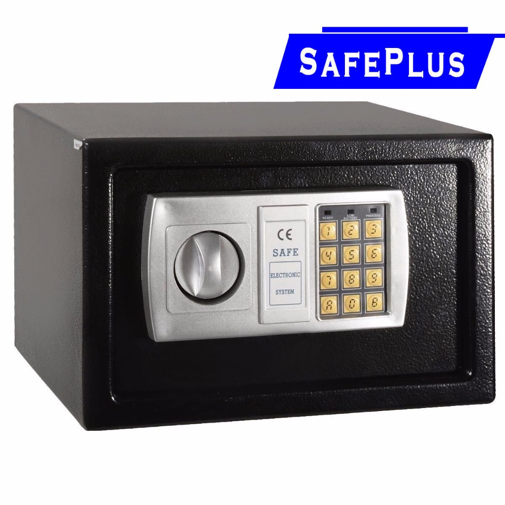 12 5 electronic digital lock keypad safe box cash jewelry gun safe black new hw49693bk in. Black Bedroom Furniture Sets. Home Design Ideas