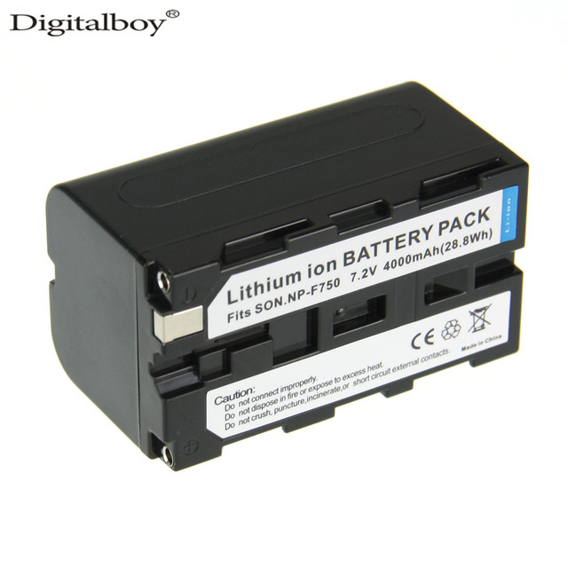 Digitalboy 4000 mah 1 unids np-f750 np npf750 f750 f770 f730 para sony np-f770 f730 ccd-trv58 trv110k trv26e hvr-z1 v1j z1