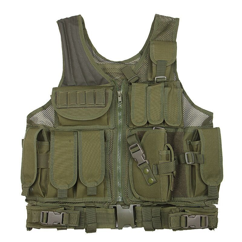 600D Oxford Cloth Waterproof Tactical Vest Multi-functional Camouflage Military Amphibious High Quality Breathable Safety Vest