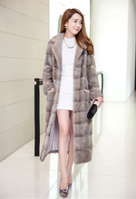 2016 aristocracy special Noble New Natural Full Pelt Mink Fur Winter Coat Women's Sleeveless Fashion All-match Knitted Mink Coat