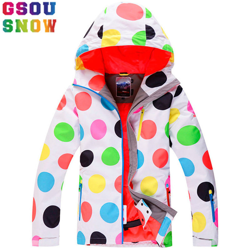 GSOU SNOW Brand Ski Jacket Women Snowboard Jacket Female Winter Waterproof Skiing Snowboarding Suits Cheap Outdoor Snow Coat hot sale women ladies snowboard jacket waterproof breathable ski jacket female winter snow coat sport motorcycle anorak clothes
