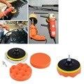 Novo 5 polegada Carro Auto Almofada de esponja De Polimento Roda Lustrando Kit Com Adaptador de Broca M10 Tampão venda quente