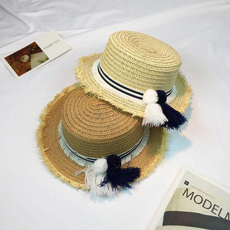 2017 novedad sombrero de paja estilo británico para mujer sombrero de playa  de moda sombrero clásico ea5e712fb06