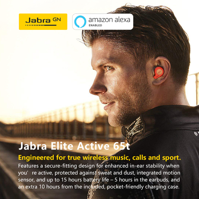Jabra Elite Active 65t Alexa Enabled True Wireless Sports  Earbuds with Charging Case Copper Red