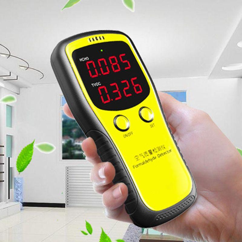 Monitor Digital LCD portátil, Detector de formaldehído de calidad del aire para interiores Etmakit, gran calidad, chasis de escritorio, lector de tarjetas integrado, lector de tarjetas multifunción de 3,5 pulgadas