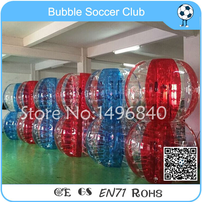 Free Shipping 12 pieces (6red+6blue ) Factory Price Soccer Bubble,Bubble Soccer 1.5m, Zorb ball For Football Games cheapest crazy best material tpu inflatable body bumper ball bubble soccer ball bubble ball for football