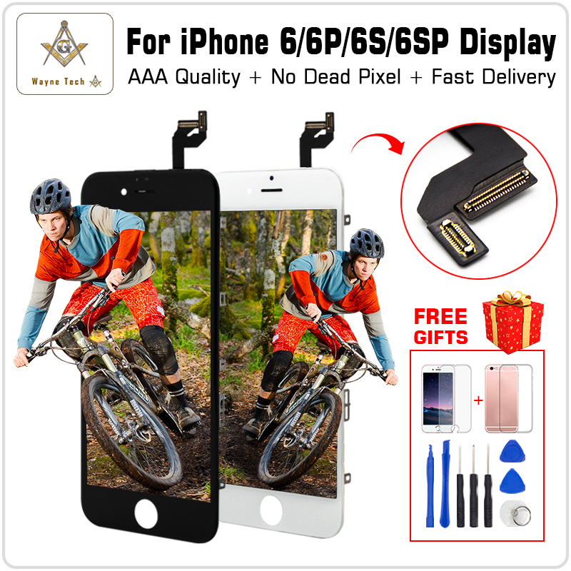 AAA Quality 100% Good Working LCD Touch Screen Glass Digitizer Display Assembly For iPhone 6 S Plus Free Shipping +Gifts