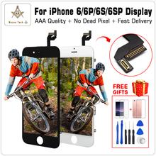 AAA jakość 100 dobry roboczy ekran dotykowy LCD Szkło Digitizer wyświetlacza zestaw dla iPhone 6 S Plus Darmowa wysyłka + prezenty tanie tanio iPhone 6 Plus iPhone 4S iPhone 6s Plus iPhone 6s iPhone 6 Ekran pojemnościowy 6g 6Plus 6s 6SPlus Z Seoul Virginia