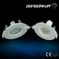 O novo Super Bright LED Embutido Downlight Dimmable COB 3 W 5 W MR16 GU10 CONDUZIU a luz do Ponto LEVOU Lâmpada decoração Do Teto AC220 levou lâmpada