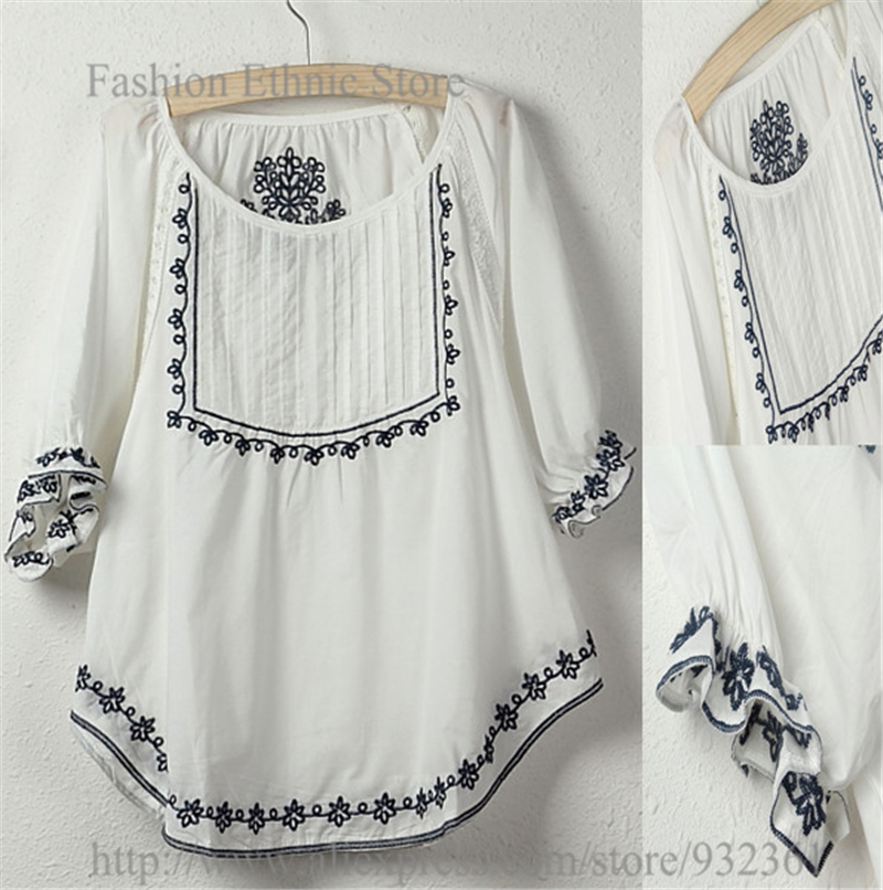 Mexican Embroidered Mini Halter Dress Open Back