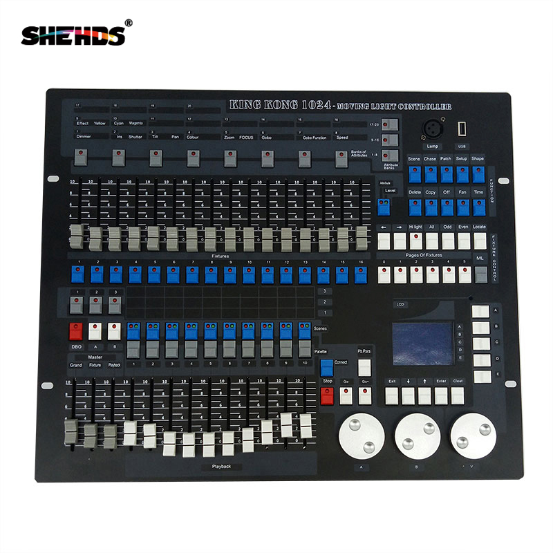 1024 Channels DMX512 DMX Controller Console DJ Disco Equipment DMX Lighting Consoles Professional Stage Lights Control Equipment
