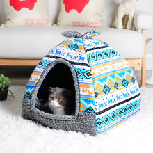 Soft Little Dog House Puppy Bed Sofas Doggy Cat Kennel Small Animals Home Sleeping Beds With Mat Chihuahua Cama Casa De Perro