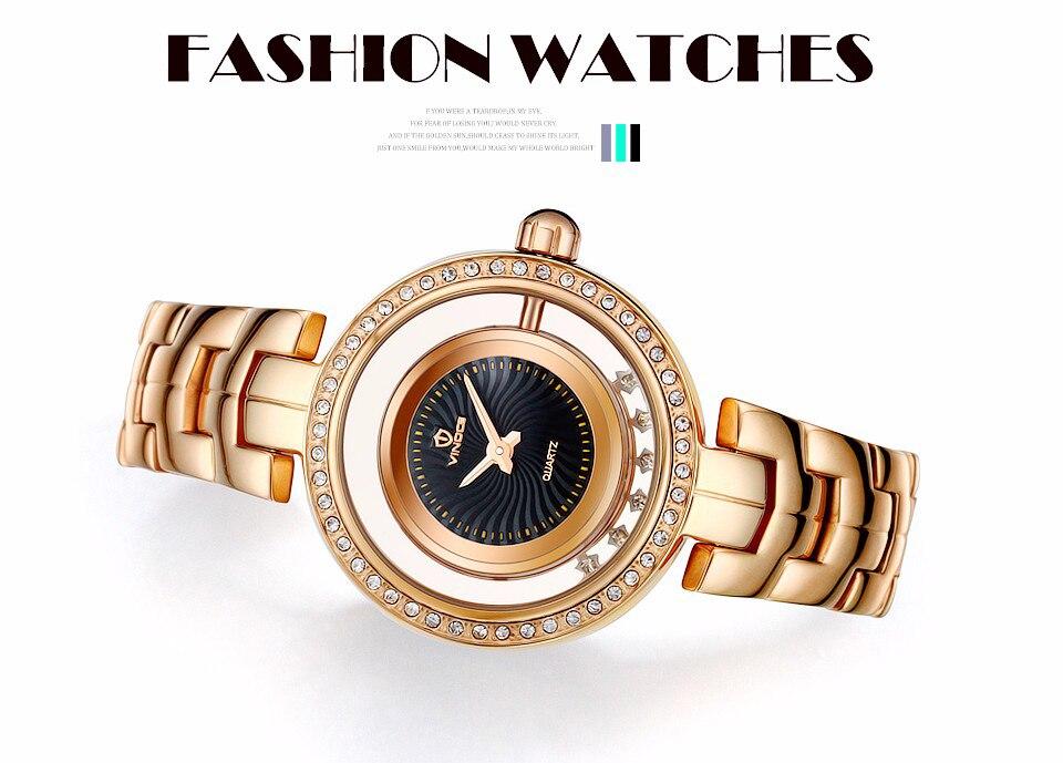 ᗛVINOCE Топ бренд класса люкс золотые кварцевые часы для ...