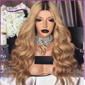 8A Ombre Blonde Full Lace Human Hair Wigs with baby hair two tone body wave human hair wigs Glueless Lace Front Human Hair Wigs