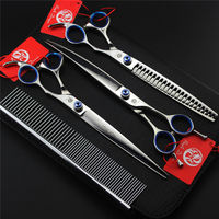 Purple Dragon Professional Pet Grooming Scissors Set 7 8 Inch High Quality Cat Dog Shears Hair