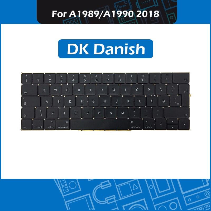 New A1989 A1990 Replacement keyboard DK Danish Layout for font b Macbook b font Pro Retina