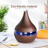 300ml Electric Ultrasonic Air Humidifier USB Electric Aroma air diffuser wood Essential oil Aromatherapy cool mist maker| |   -