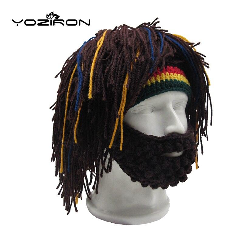 Handmade Beard Wig Rasta Winter Beanie H