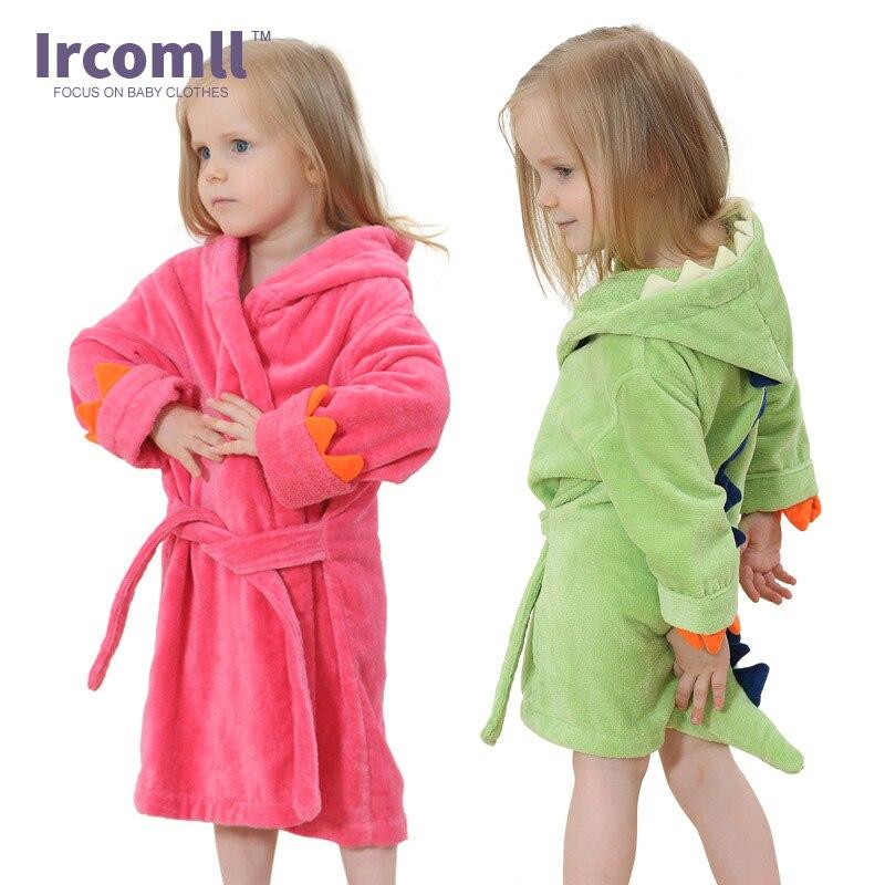 Children Cartoon Robes Animal Sleepwear for 0-8 Years Boys Girls Flannel Pajamas Baby Ba ...