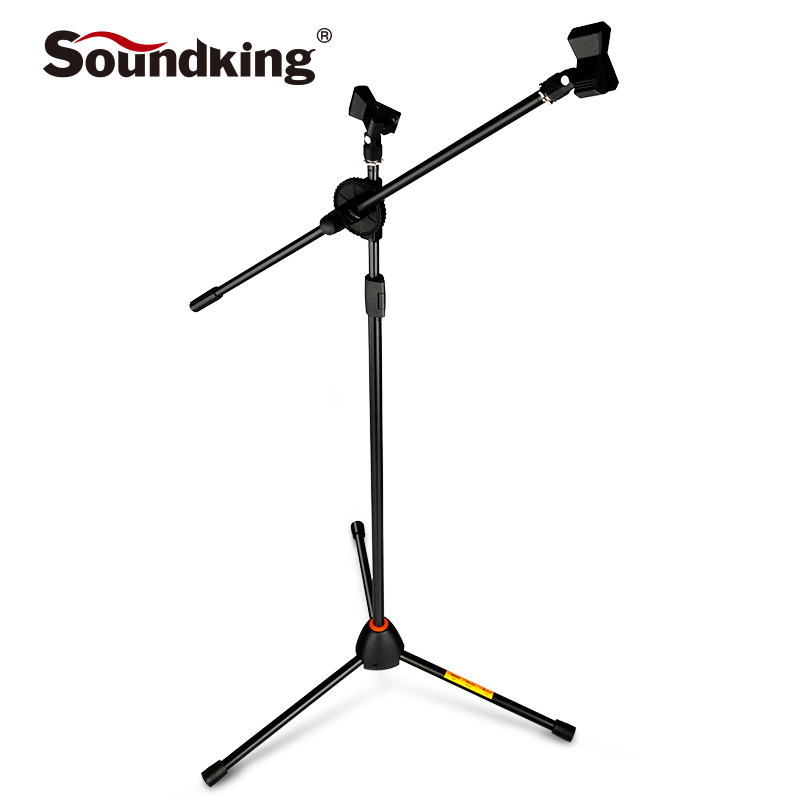 soundking Universal Microphone Tripod Floor Stand Adjustable Microphone Clip Holder Detachable Double-headed Stage Mic Stand S10 стойка студийная kupo universal floor stand 356