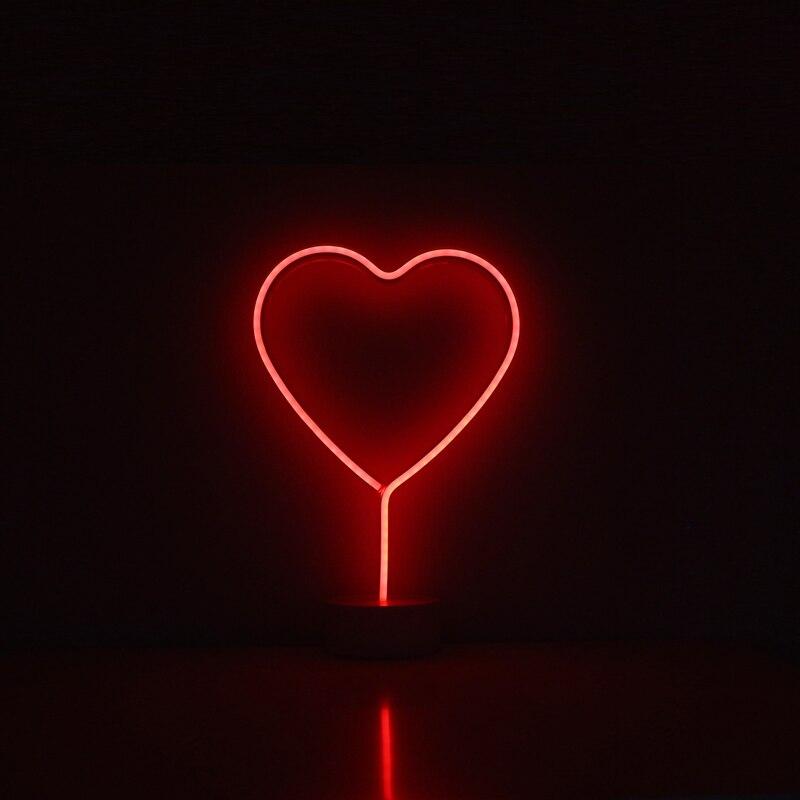 Neón rojo iluminación estrellas Flamingo Coconut árbol de Navidad forma diseño decoración familia café artesanía habitación decoración luces de neón en LED Lámparas de Mesa de Luces e iluminación en AliExpresscom  Alibaba Group