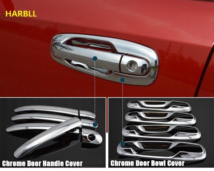 Poignées De Porte de voiture Couvre Pour Chevrolet Lacetti Optra Daewoo Nubira Suzuki Forenza Holden Viva Autocollant Chrome Extérieur Car Styling