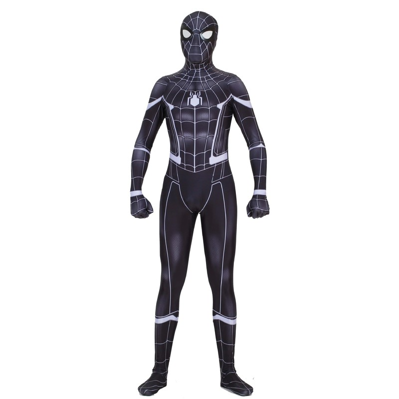 New Spiderman Stark Suit Black Spider Man Homecoming Cosplay Costume