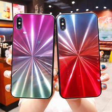 JONSNOW CD Gradient Glitter Phone Case for iPhone 7 8 Plus 6P 6S Cover Cases X XR XS Max Colorful Back