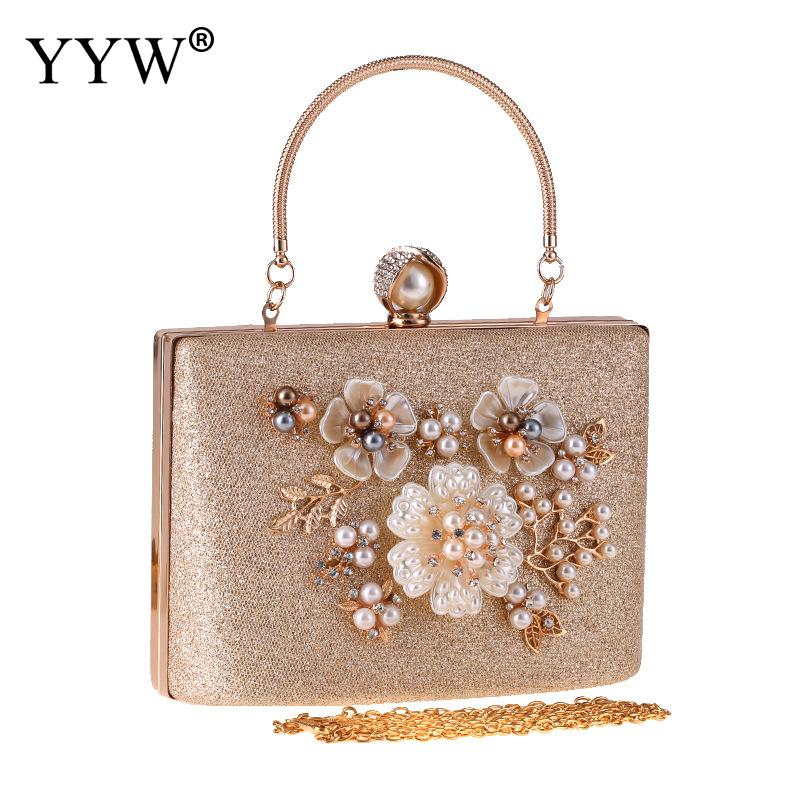 Bling Evening Clutch Bag Pearl Floral Evening Handbag Women Over Shoulder Luxury Bag Designer Clutch Purse Female Tote ChampagneBling Evening Clutch Bag Pearl Floral Evening Handbag Women Over Shoulder Luxury Bag Designer Clutch Purse Female Tote Champagne