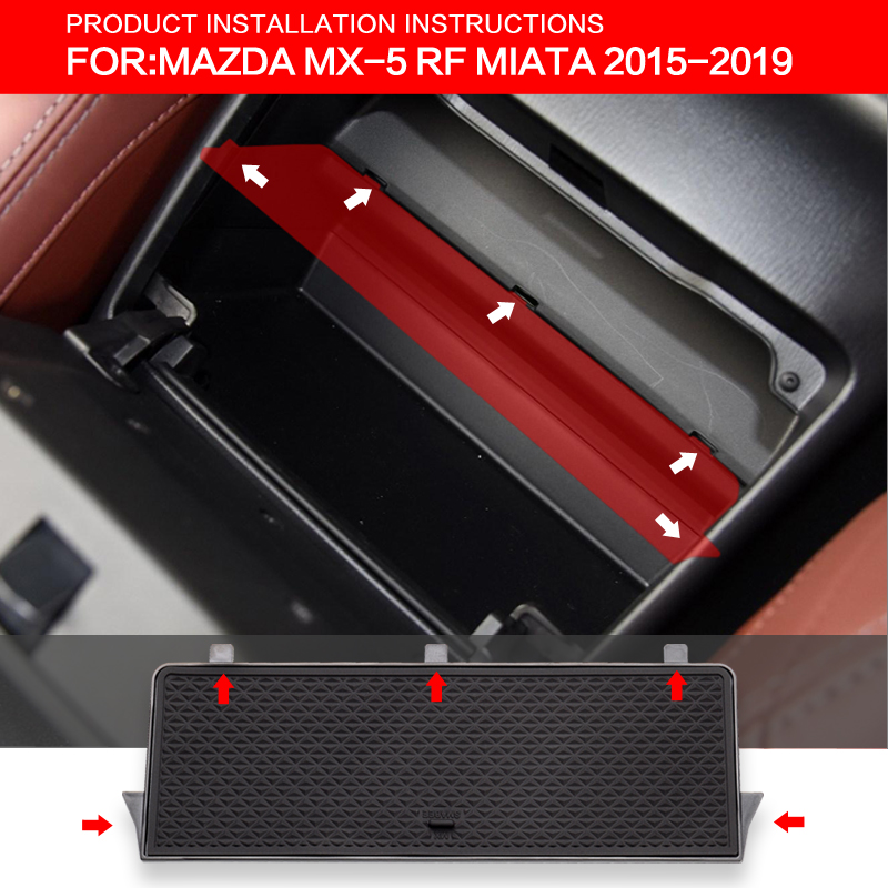 Image 2 - ZUNDUO Glove Box Auto Storage Interval For MAZDA MX 5 RF MIATA 2015 2019 Storage Console Shuffle Box Black Central storage box-in Stowing Tidying from Automobiles & Motorcycles