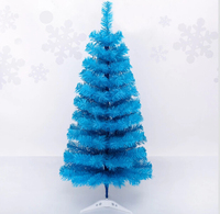 Free Shipping Event Party Christmas Xmas Tree 90cm Mini Heavy Pine Artificial Christmas Tree, Turquoise Blue