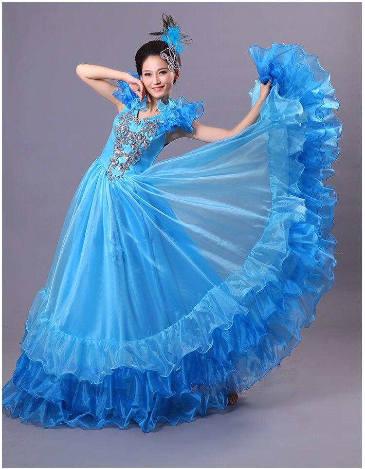 Blue dress in spanish