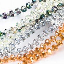 Color Crystal Beads 6mm Crystal glass Beads Charm Cut Faceted Round Glass Loose Spacer Beads For Diy Making Bracelet Accessorie 10pcs hot cut faceted color crystal glass beads fit european bracelet spacer original pandora charm bracelet for jewelry making