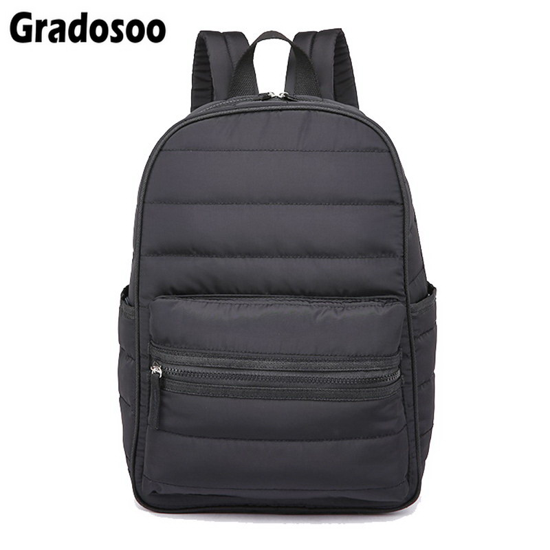 Gradosoo Winter Space Bale Women Backpack Waterproof Space Cotton Laptop Backpacks Men New School Bags For Teenagers LBF171