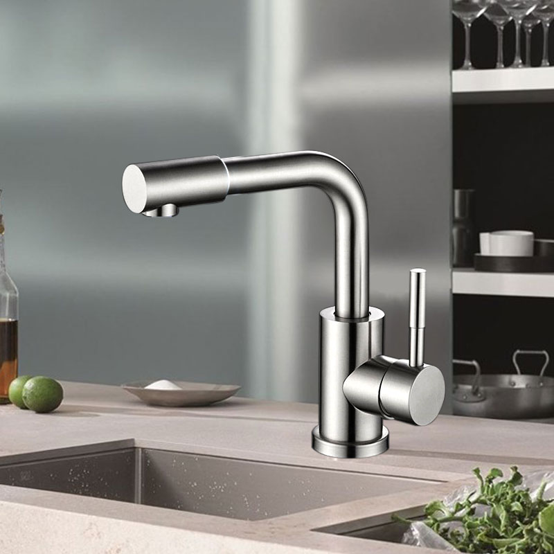 Kitchen Sink Faucet Tap 360 Degree Rotation Stainless Steel Process Faucet Mixers Sink Tap Hot And Cold Mixer Sink Faucet