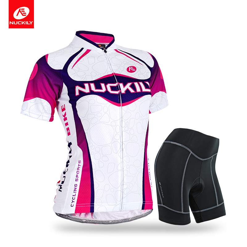 Nuckily Summer Womens sports jersey new model short sleeve cycling clothing sets GG004NS359