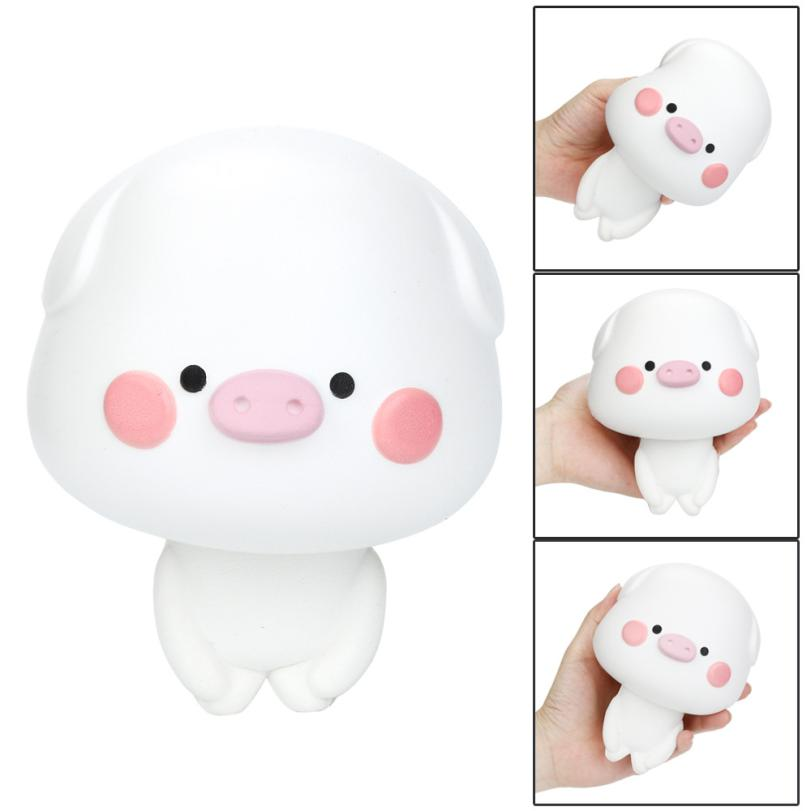 Squishy Cute Pig Scented Slow Rising Collection Squeeze Stress Reliever Toy Elastic Environmentally funny gadgets interesting#15